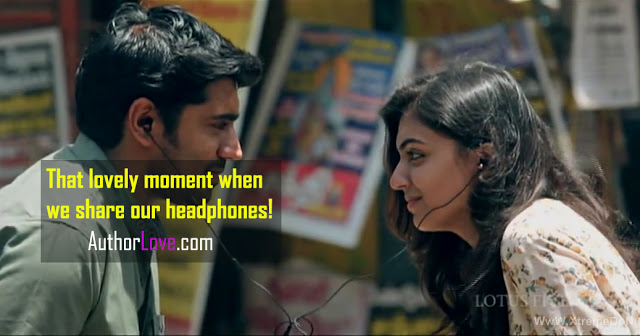 That lovely moment when we share our headphones! | Romantic Moments