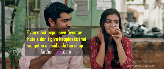 Even most expensive fivestar hotels don't give happiness that we get in a road side tea shop.  | Love Quotes