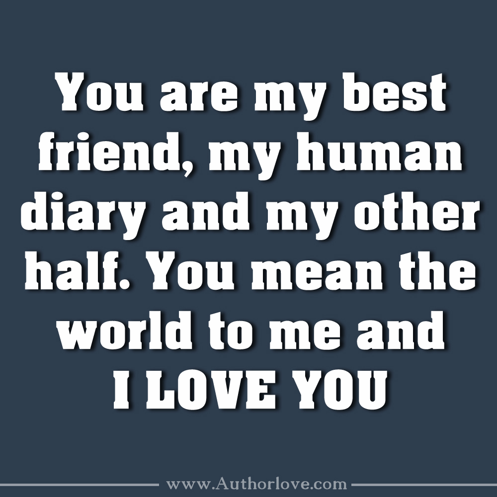 I Love You Bestfriend Quotes Love Quotes Display Picture  14  Author Love