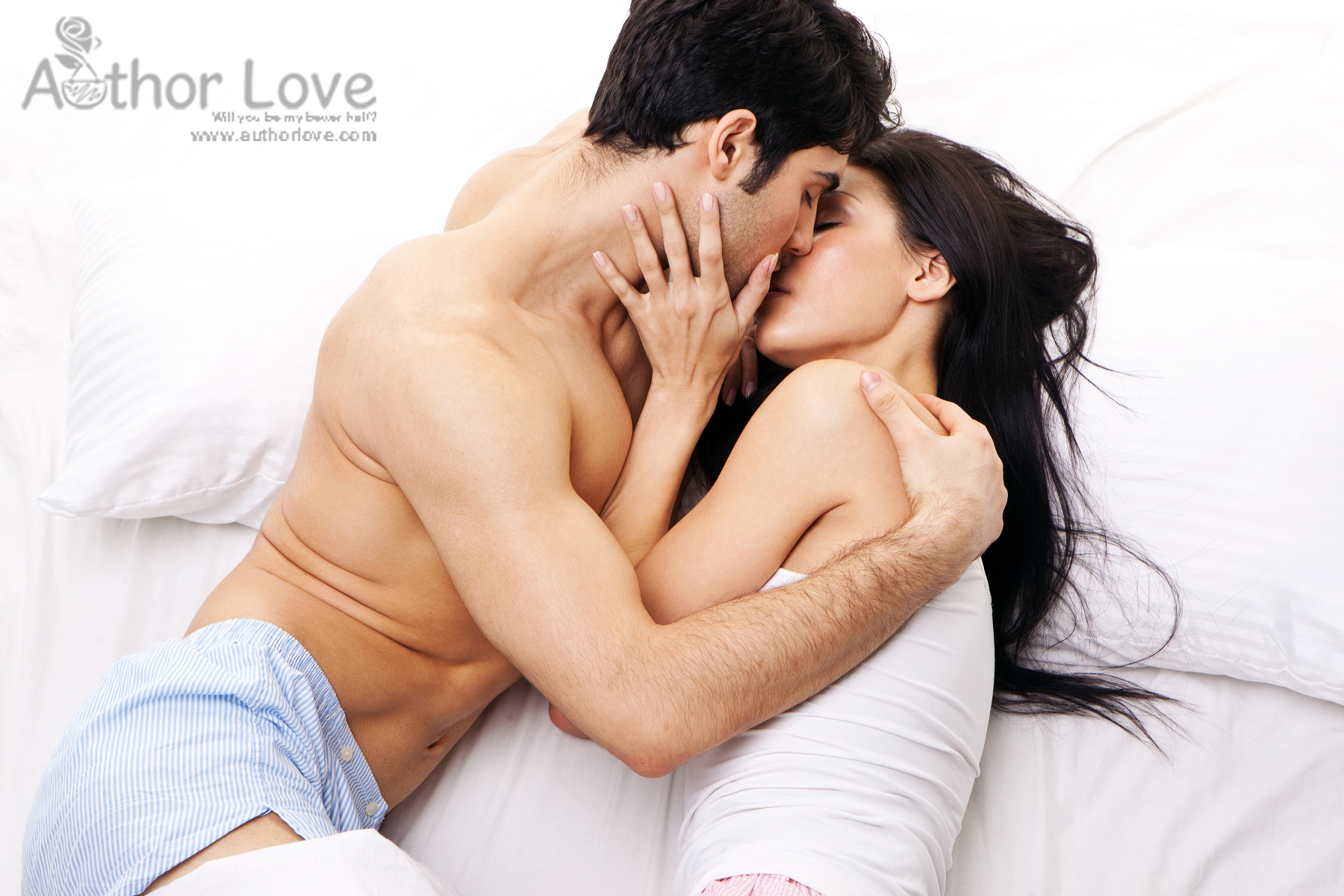 Romance Of Romantic Couple In Bed Room