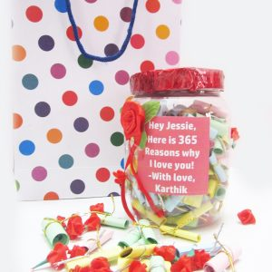 365 Reasons Why I Love You Personalized Gift Box 1