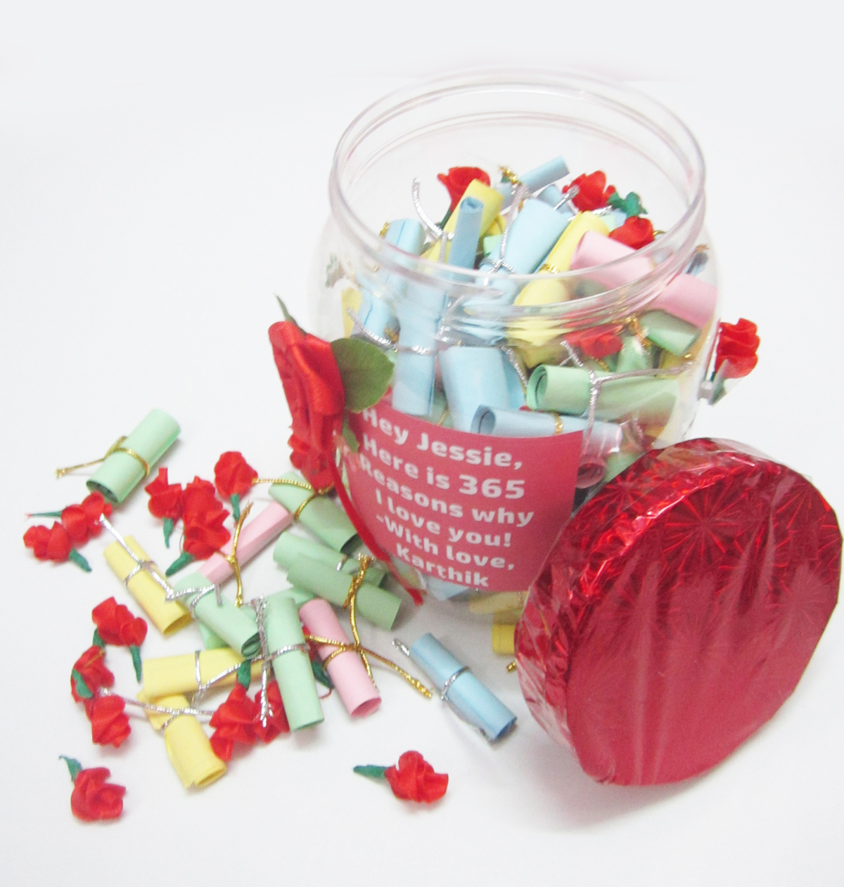 365 Reasons Why I Love You Personalized Gift Box