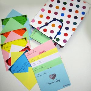 50 Colorful Love Letters Personalized Gift Pack 1