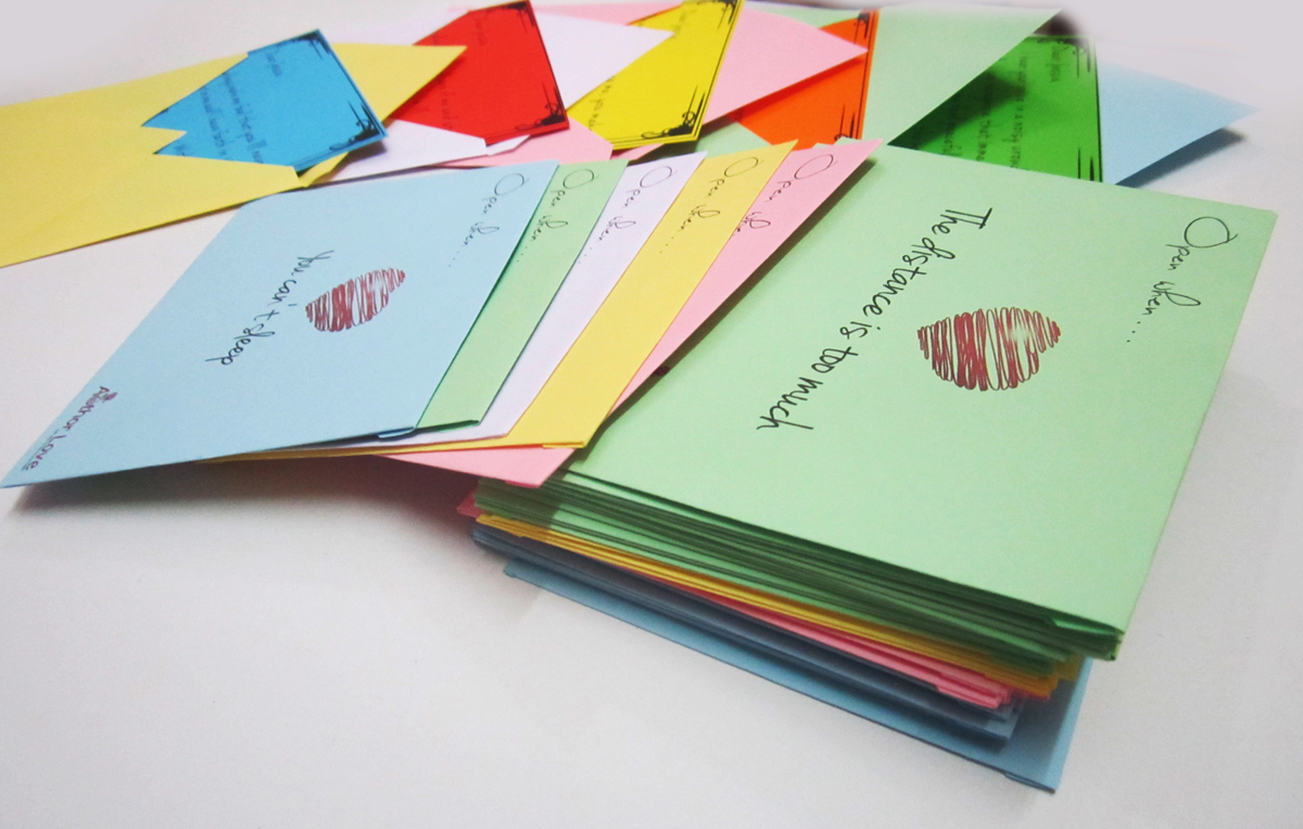 50 Colorful Love Letters Personalized Gift Pack Author Love