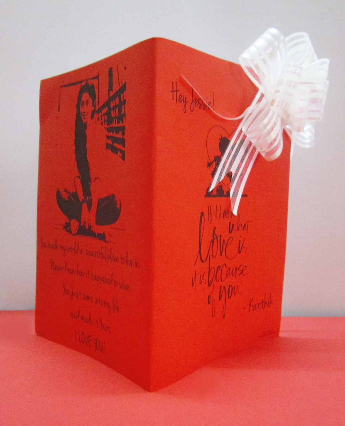 Love Cards Diary Photo Chain Greeting Card Combo