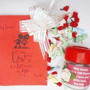 100 Reasons Why I Love You Gift Box & Photo Chain Greeting Card Combo