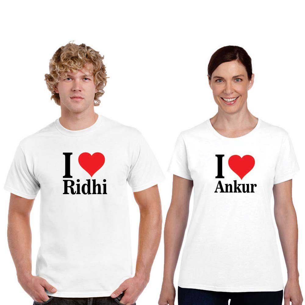 personalized i love couple t shirts  author love