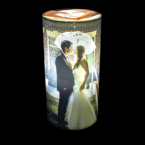 Personalize Cylindrical photo Lamp