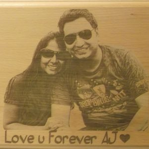 Personalized Engraved Wooden Photo Plaque 1