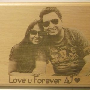 Personalized Engraved Wooden Photo Plaque 2