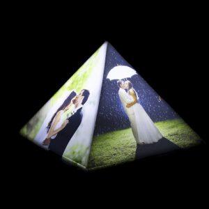 Personalized pyramid photo lamp 1