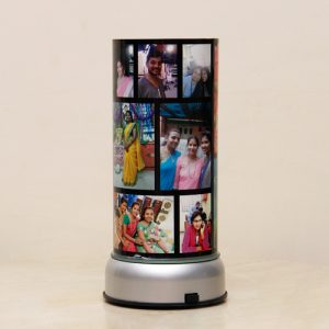Personalized revolving photo lamp 1