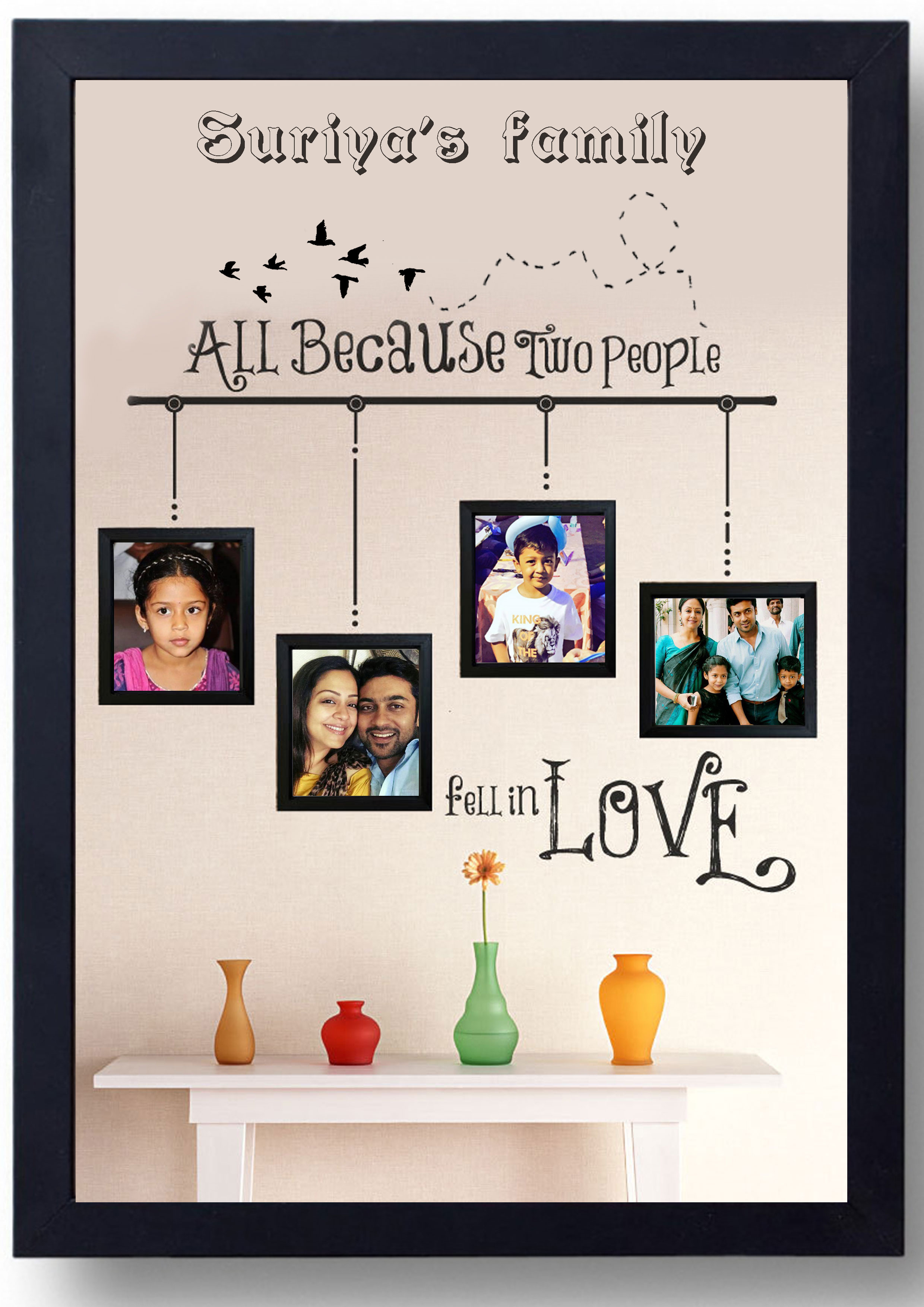 All Because Two People Fell In Love Photo Frame Author Love