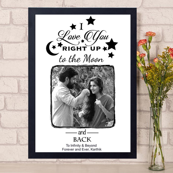 I Love You To The Moon And Back Photo Frame Author Love