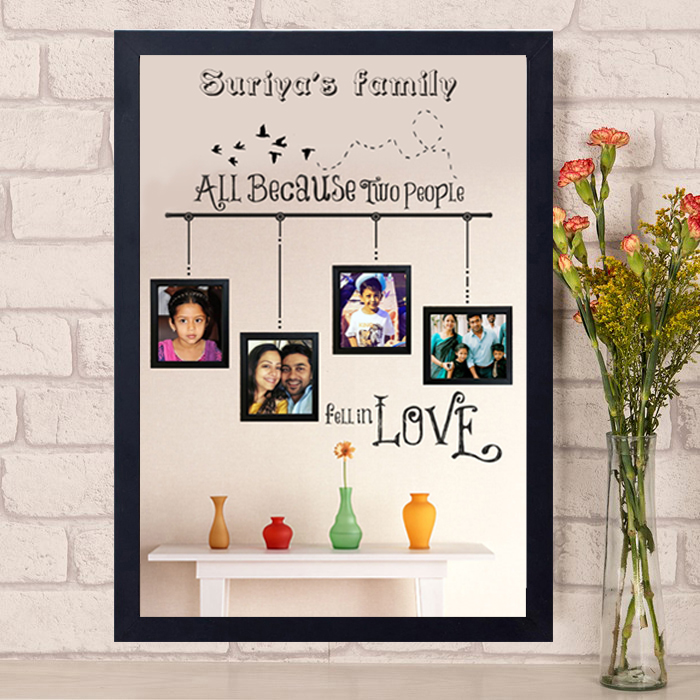 All because two people fell in love | Photo frame | Author Love