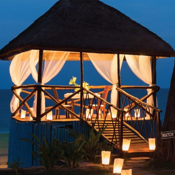 Luxurious dine by the beach