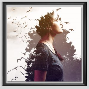 Double exposure tree Frame
