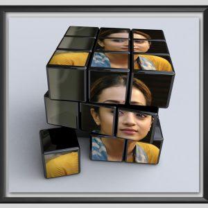 Rubik's cube photo- Frame