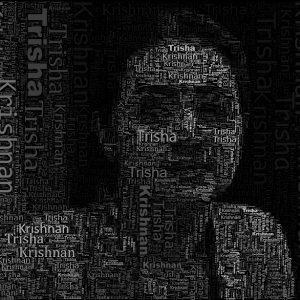 Typo effect - Trisha - Monochrome