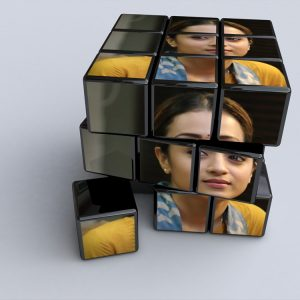 Rubik's cube photo effect digital
